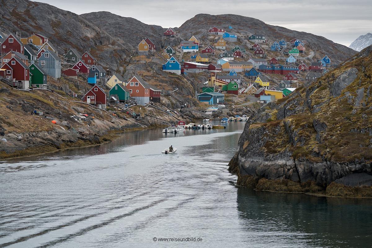 Siedlung in Grönland Fotoreise Reise und Bild