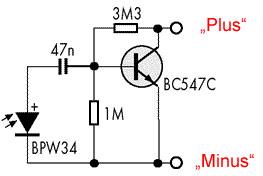 Fotozelle schaltung
